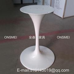 H018# 白色烤漆金屬桌腳