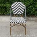 K136# 户外竹藤餐椅