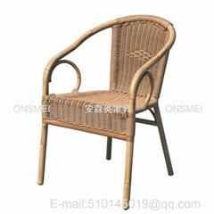 K129# 戶外竹藤咖啡椅