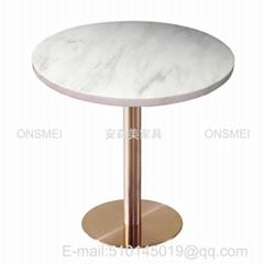 T521# 鍍金大理石圓桌