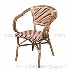 K133# 帶扶手竹節椅