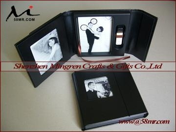 Wedding Leather Fabric CD DVD USB Case Packaging Box 3