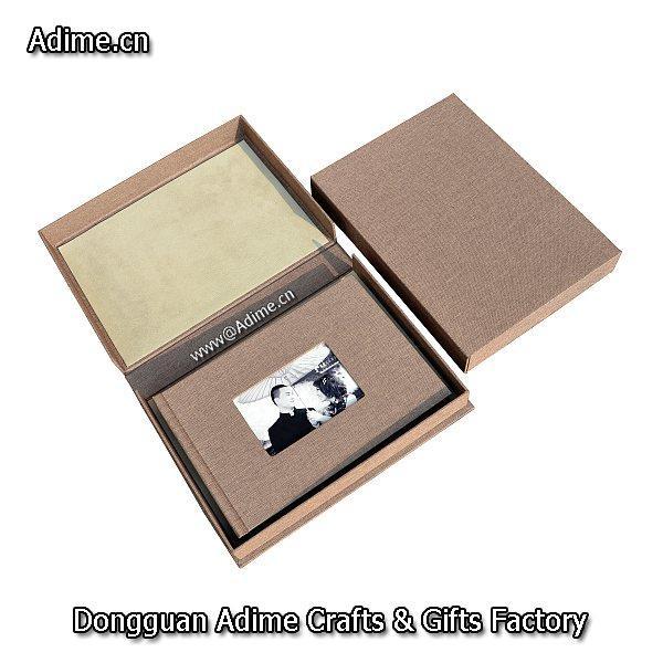 wedding Leather Linen Photo Album Storage Packaging Box 1