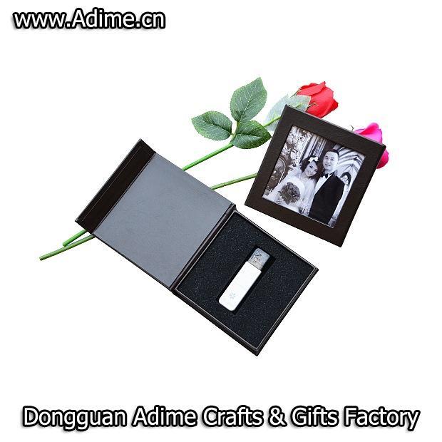 Magnet Wedding Linen USB Flash Drive Storage Packaging Gift Box 2