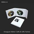 White Wedding Leather Fabric Linen CD