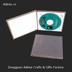 Elegant Wedding Fabic Linen CD DVD Album Folio