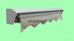 Motorized retractable cassette awning remote control
