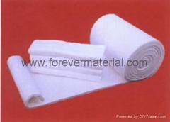 aluminosilicate ejecting fibre blanket