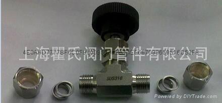 304不锈钢材质直通卡套针阀Φ10 4