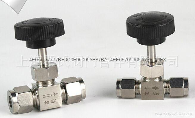 304不锈钢材质直通卡套针阀Φ10 1