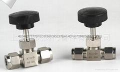 304不鏽鋼材質直通卡套針閥Φ10