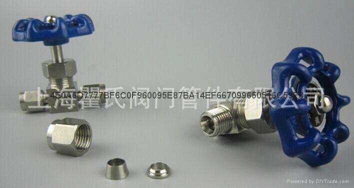 304不锈钢材质直通卡套针阀Φ10 3