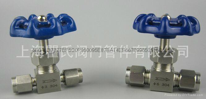 304不锈钢材质直通卡套针阀Φ10 2
