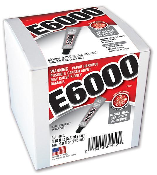 E6000® 迷你透明胶水封涂剂 (0.18fl.oz.) 9