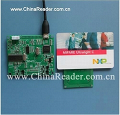 13.56Mhz ISO14443A B ISO15693,SAM CPU Card USB Reader