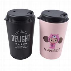 雙層PP咖啡杯