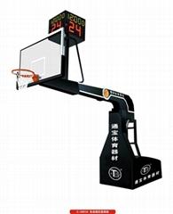 廠家直銷室內電動液壓籃球架