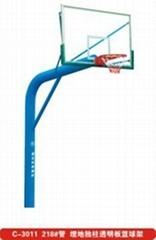 埋地獨柱透明板籃球架