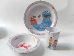 kid's melamine ware set