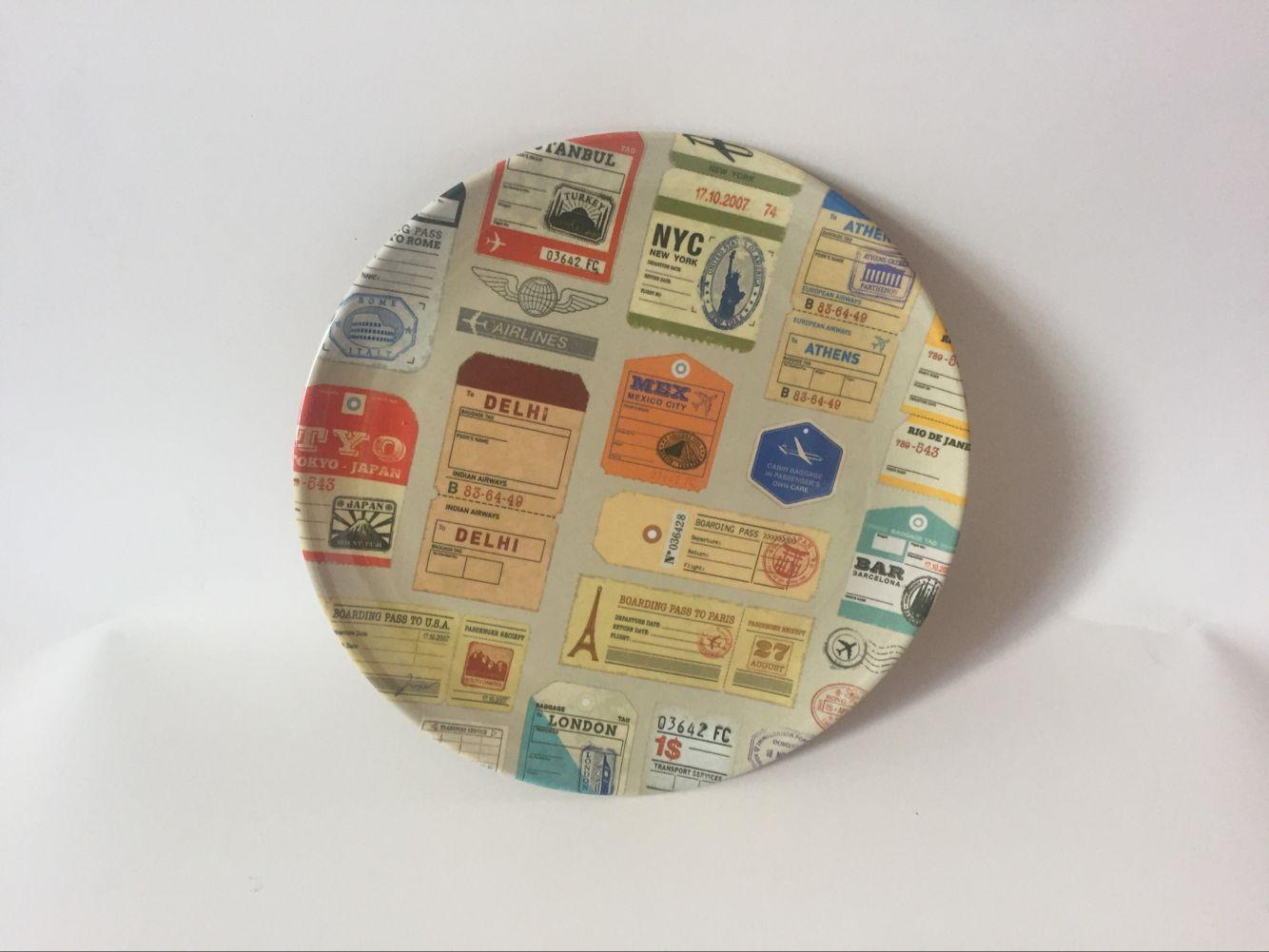 美耐皿四格盘 茶碟 5