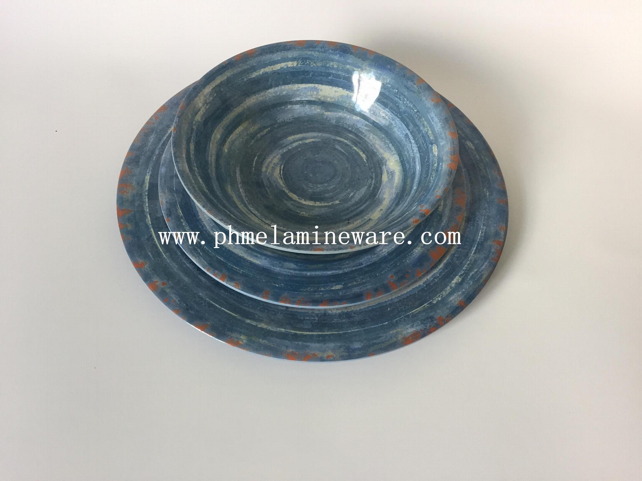 美耐皿四方碗  4