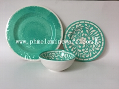 hot selling melamine dinnerware set ( 3 pcs of set)