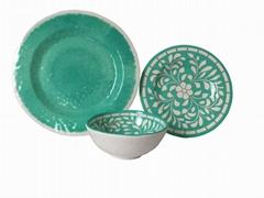 hot selling melamine dinnerware set ( 3 pcs of set)