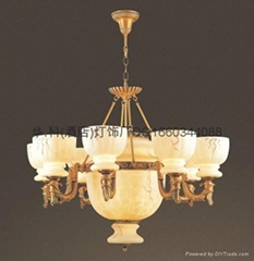 Imitation marble chandelier hk lighting