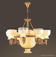 Imitation marble chandelier hk lighting