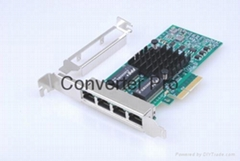 Intel Network Card  I350 Chipset Gigabit Server  PCI Express  Quad Port