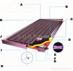 solar flat panel heater