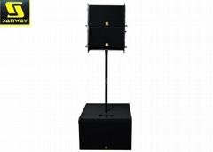VR10 Pro Powered Line Array System VR S30 2 X 15'' Active Subwoofer Speaker
