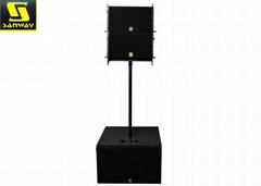 VR10 Outdoor Sound System Single 10'' Powered Line Array DJ Speaker