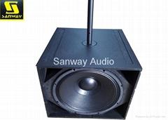 Single 18'' Subwoofer Line Array Speakers Q-SUB