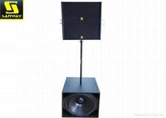 Neodymium Dual 10 Inch Active Line Array Powered Audio Speaker