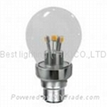 240V ac, LED SMD 360° Clear Light bulb