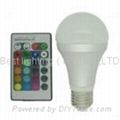 3 watt, RGB Colour change LED light bulb