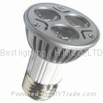 E27 Screw end cap, 3 watt, LED Spot light bulb