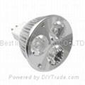 MR16, GU5.3, base cap, 3 watt, LED light bulb, 12Vac.dc, Cool Whit