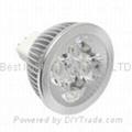 MR16, GU5.3, base cap, 4 watt, LED light bulb, 12Vac.dc, Cool White