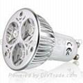 240V ac, GU10, base, 3 watt, LED light