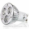 240V ac, GU10, base, 3 watt, LED light bulb, cool white, warm white