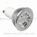 240V ac, GU10, base, 4 watt, LED light bulb, cool white, warm white
