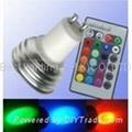 3 watt, Screw base, GU10 Base, RGB