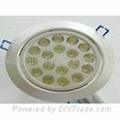 18 watt, With 18 LED's, LED light bulb, Round Ceiling Down light