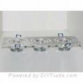 9 watt, With 3 x 3 LED's in line, LED light bulb, Down light