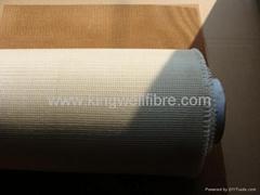 Fiberglass mesh for aluminium filtration