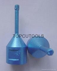 Vacuum brazed diamond drill bits