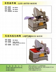 302 304 306 308 309 CLOTH ABUTTED MACHINE