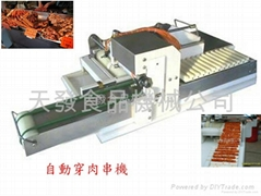 Auto stringing machine for bbq business
